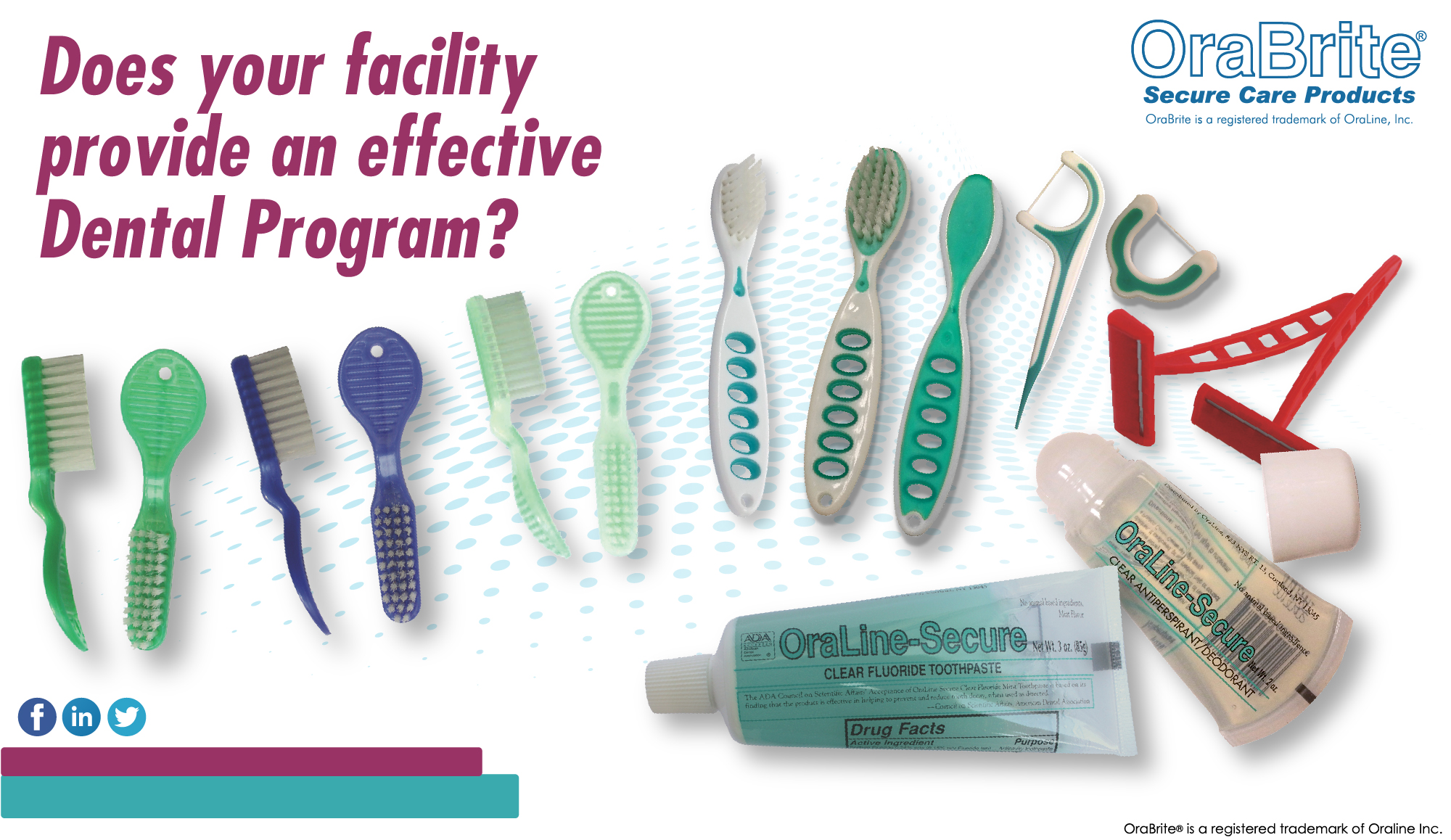 Does your facility provide an effective dental program?