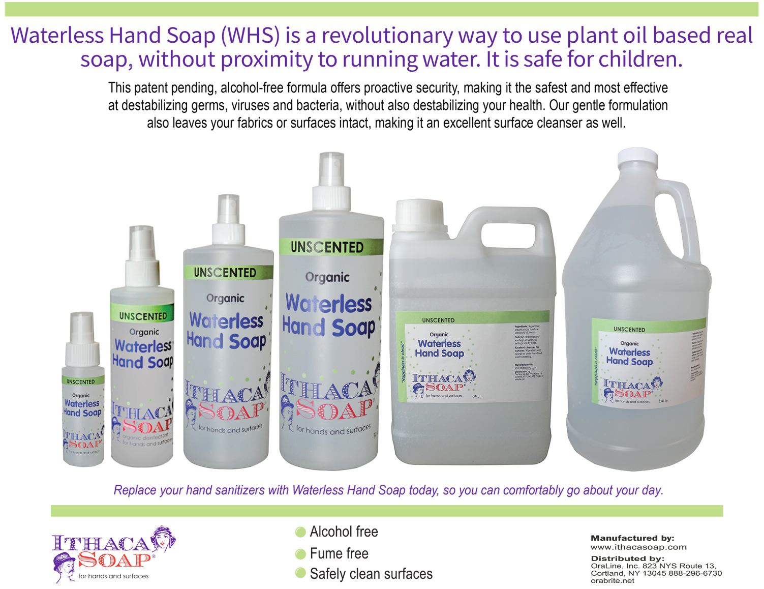 Waterless Hand Soap WHS